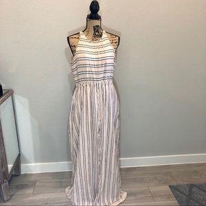 Lauren Conrad Striped Linen Maxi Dress